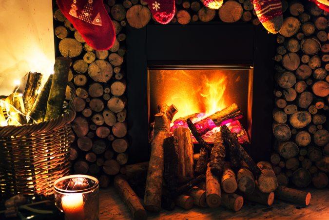Burning Christmas Fire