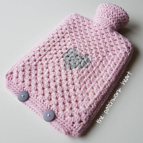 PatchworkHeart Hot Water Bottle